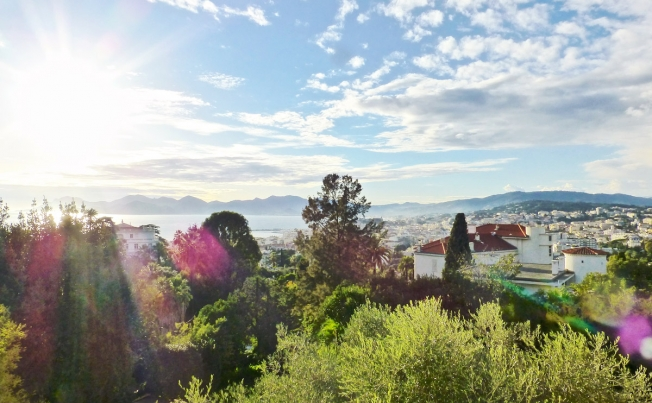 The villa has stunning views of Cannes (Freind and Country)