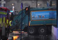 Bin lorry crash in Glasgow causes Christmas shopping chaos in Glasgow