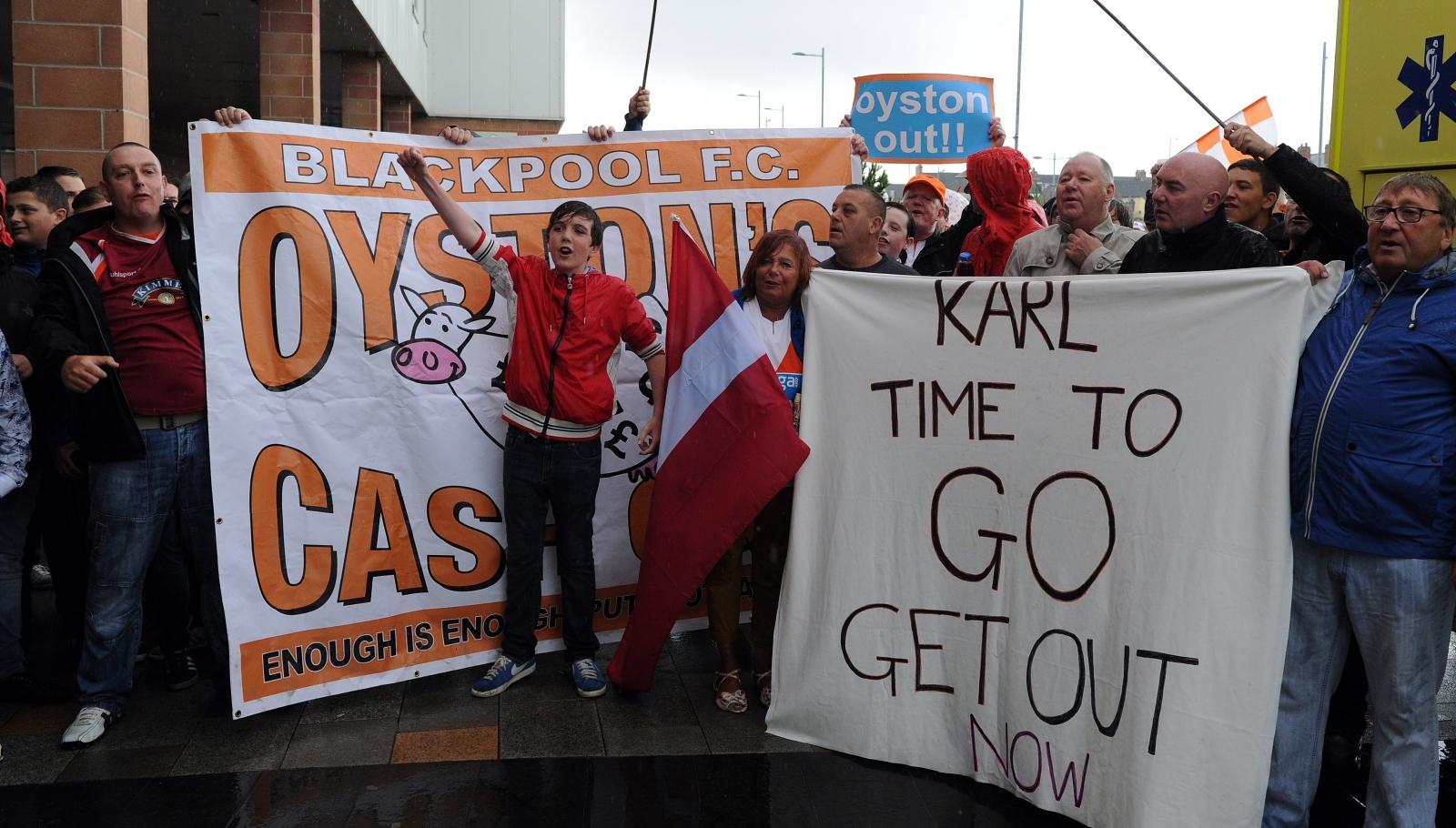 Blackpool fans Karl Oyston