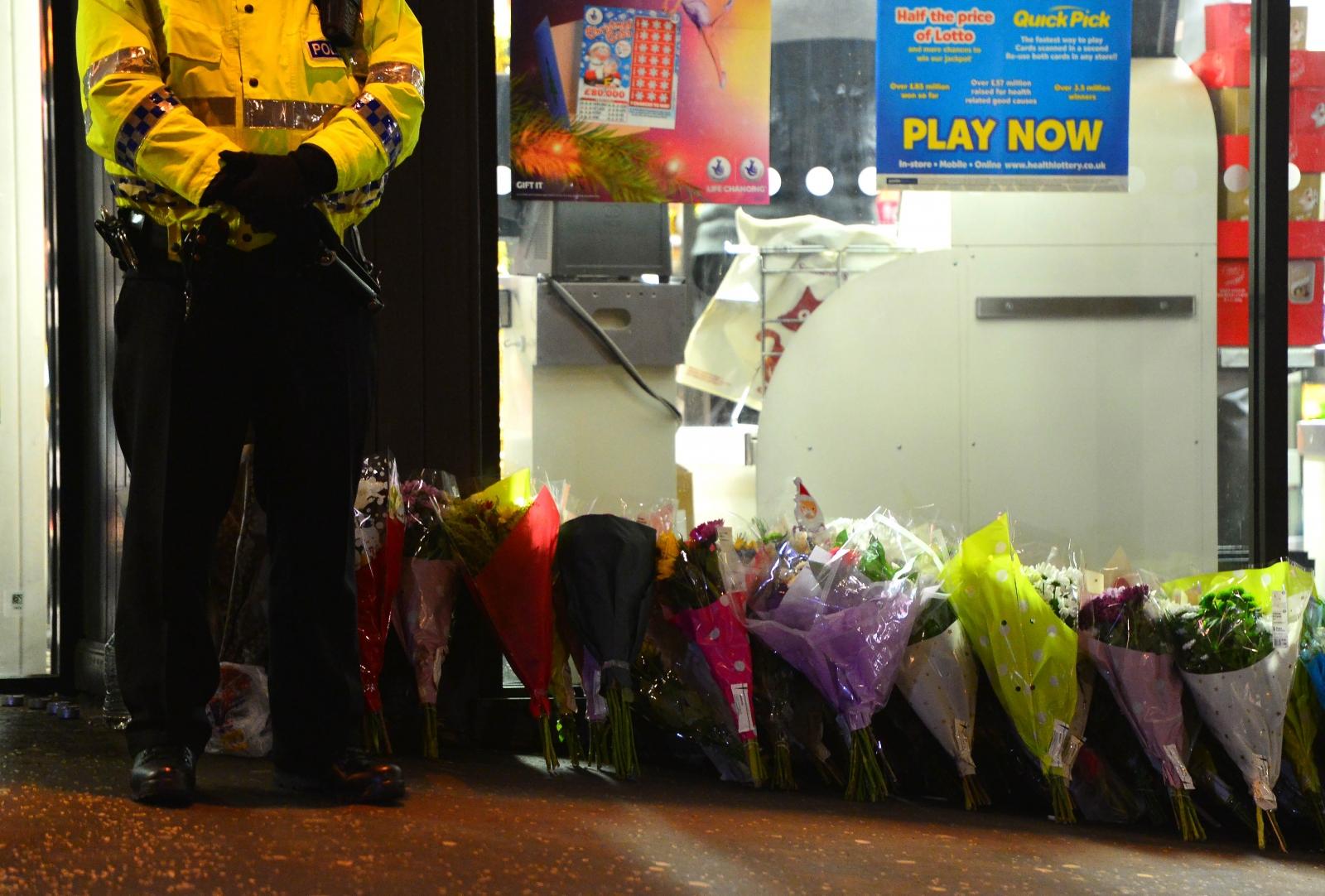 Glasgow bin lorry crash flowers