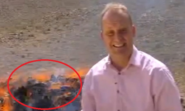 Powerful drug fumes appeared to affect BBC reporter Quentin Sommerville