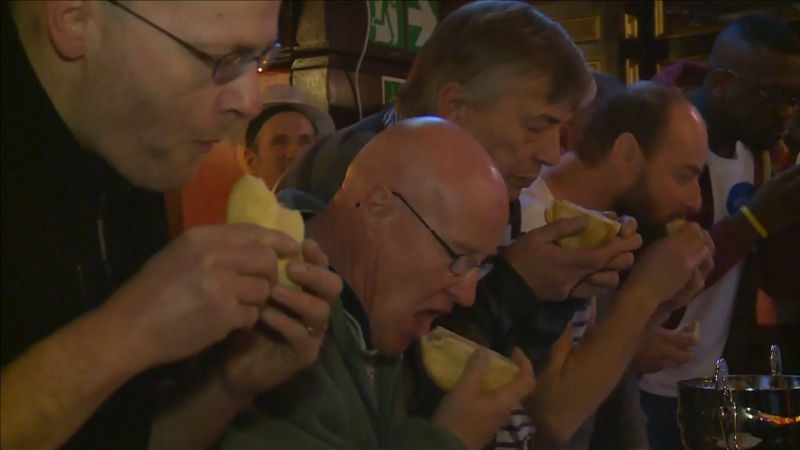 World pie eating championships take place in Wigan