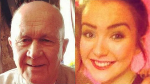 Jack Sweeney (left) and grand-daughter Erin McQuade were among six people in Glasgow lorry crash horror