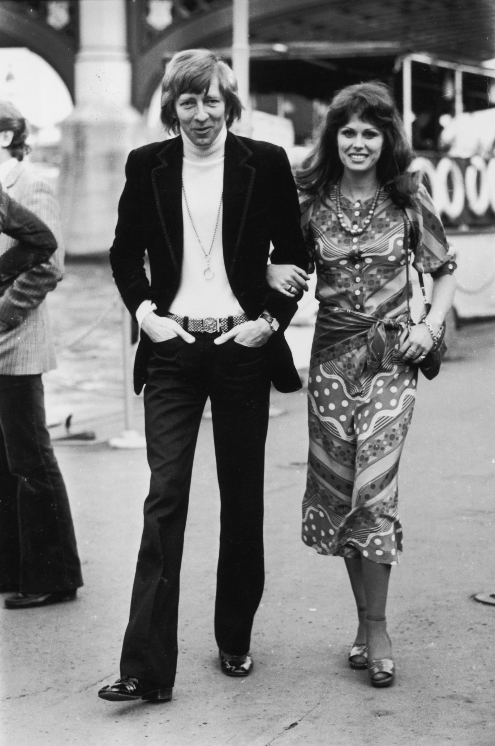 British actress, Joanna Lumley and her ex-husband, actor, Jeremy Lloyd.
