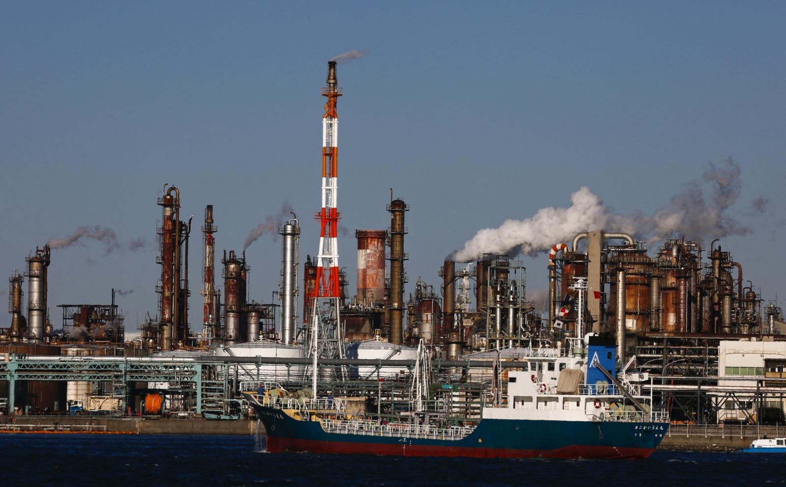 petro-industrial complex in Kawasaki near Tokyo