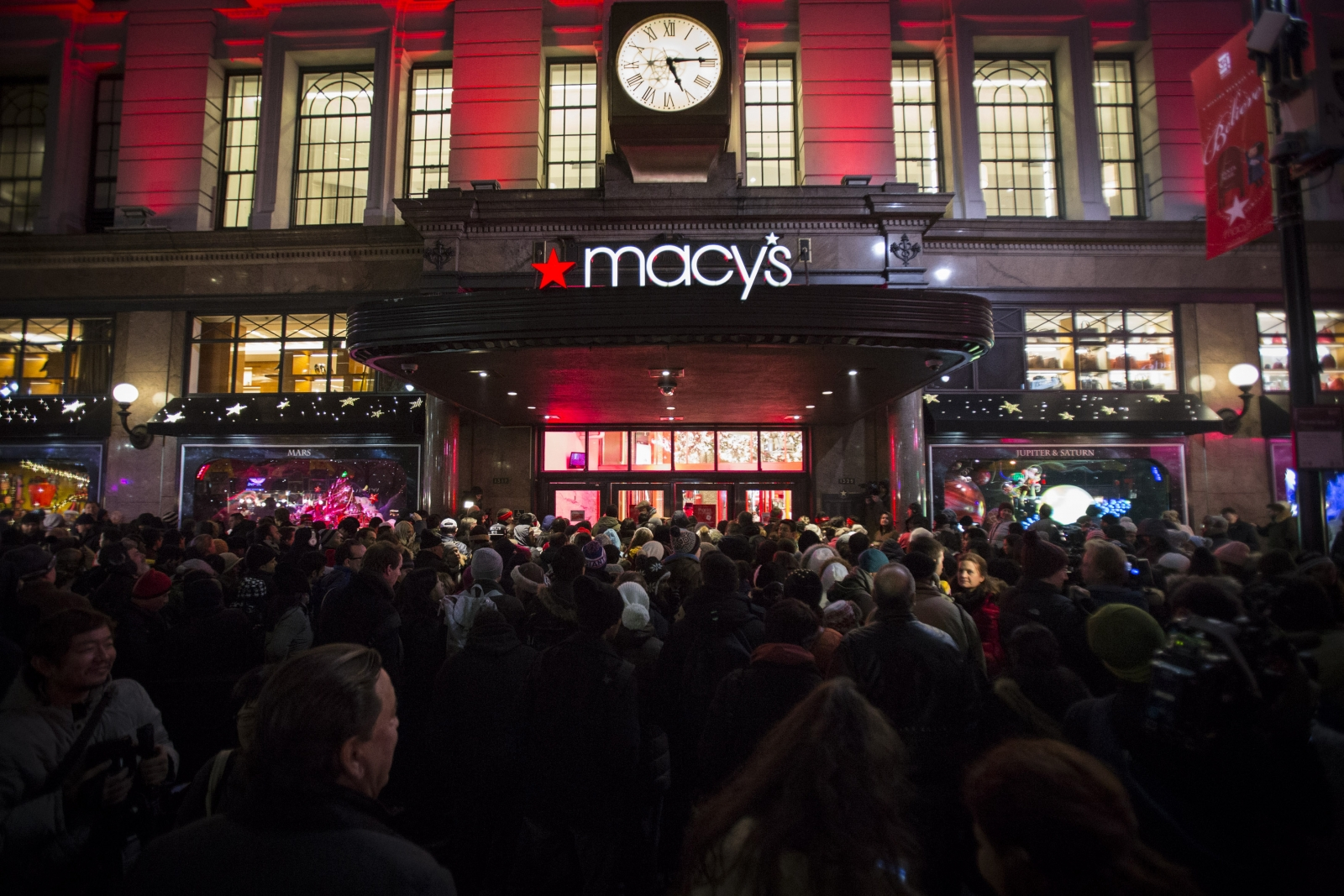 US shoppers at Macy's