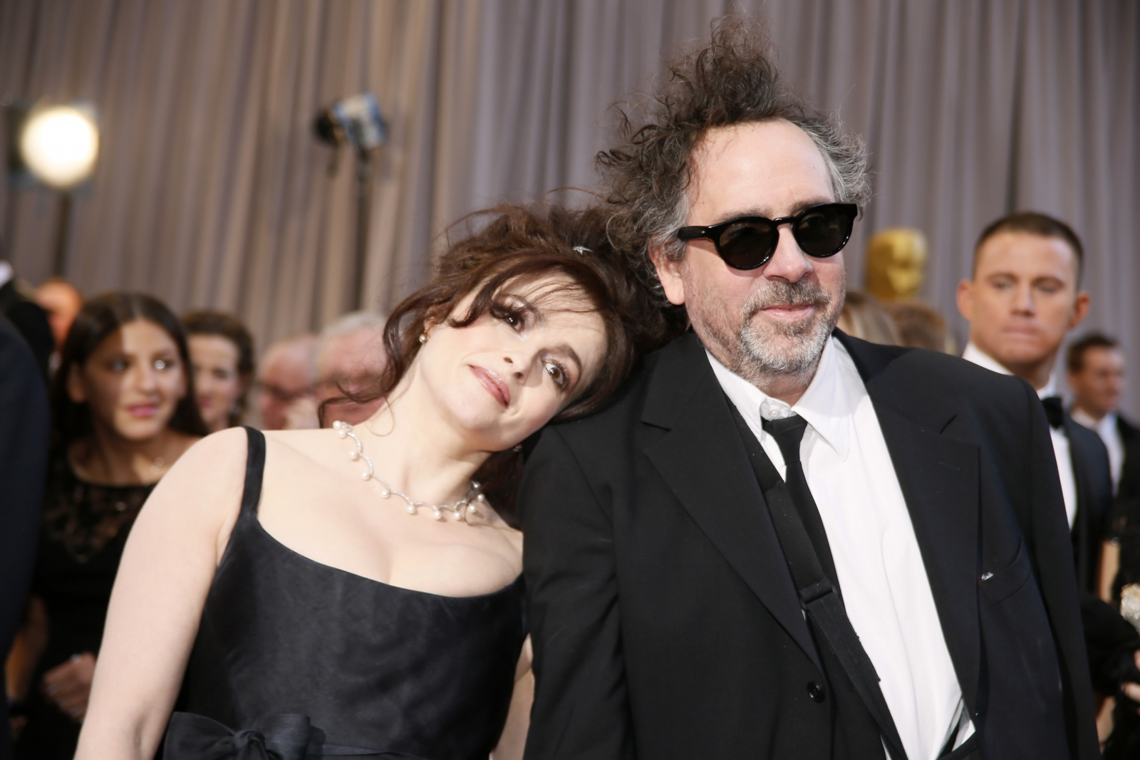 British actress Helena Bonham Carter (L) with ex-partner director Tim Burton