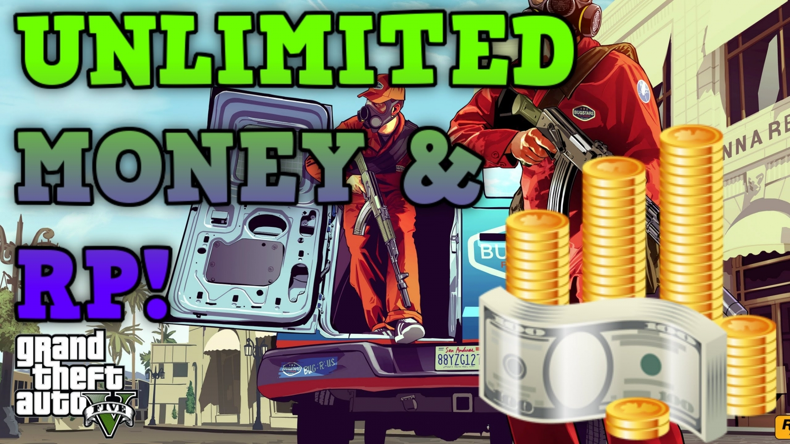 GTA 5 Online: Unlimited money (Solo and Non-Solo) and RP glitches for Patch 1.19/1.20/1.21