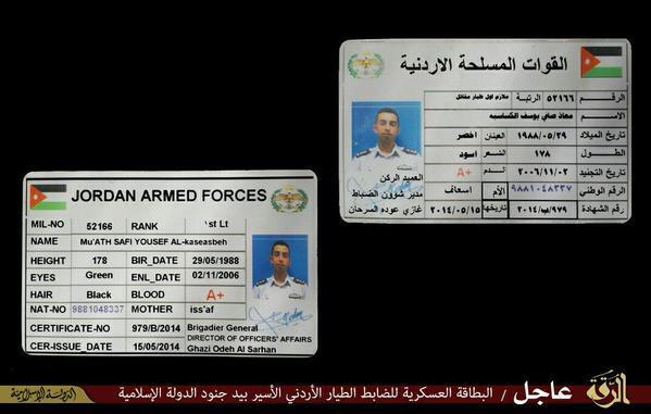 Photo-id of the pilot allegedly shot down by isis near Raqqa.