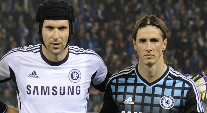 Petr Cech and Fernando Torres