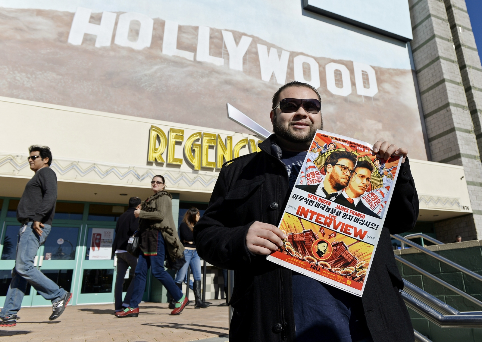 Christmas Day screening of The Interview in the Van Nuys section of Los Angeles, Hollywood
