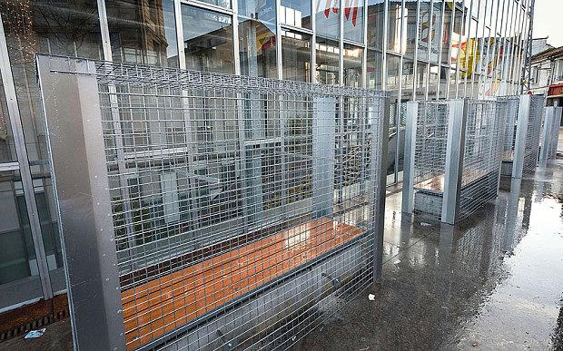 Anti-homeless fences