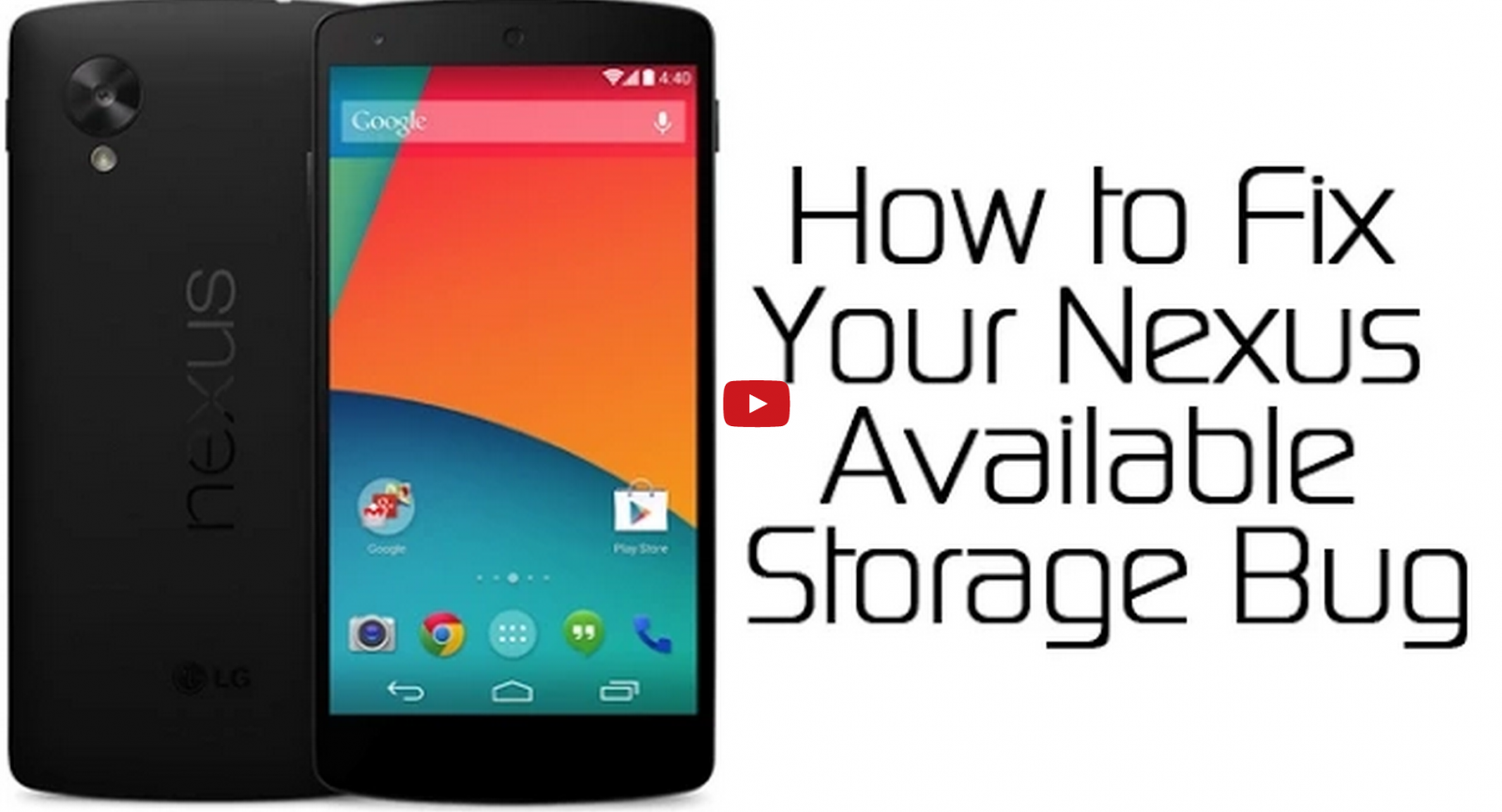 How to fix available internal storage bug on Nexus devices