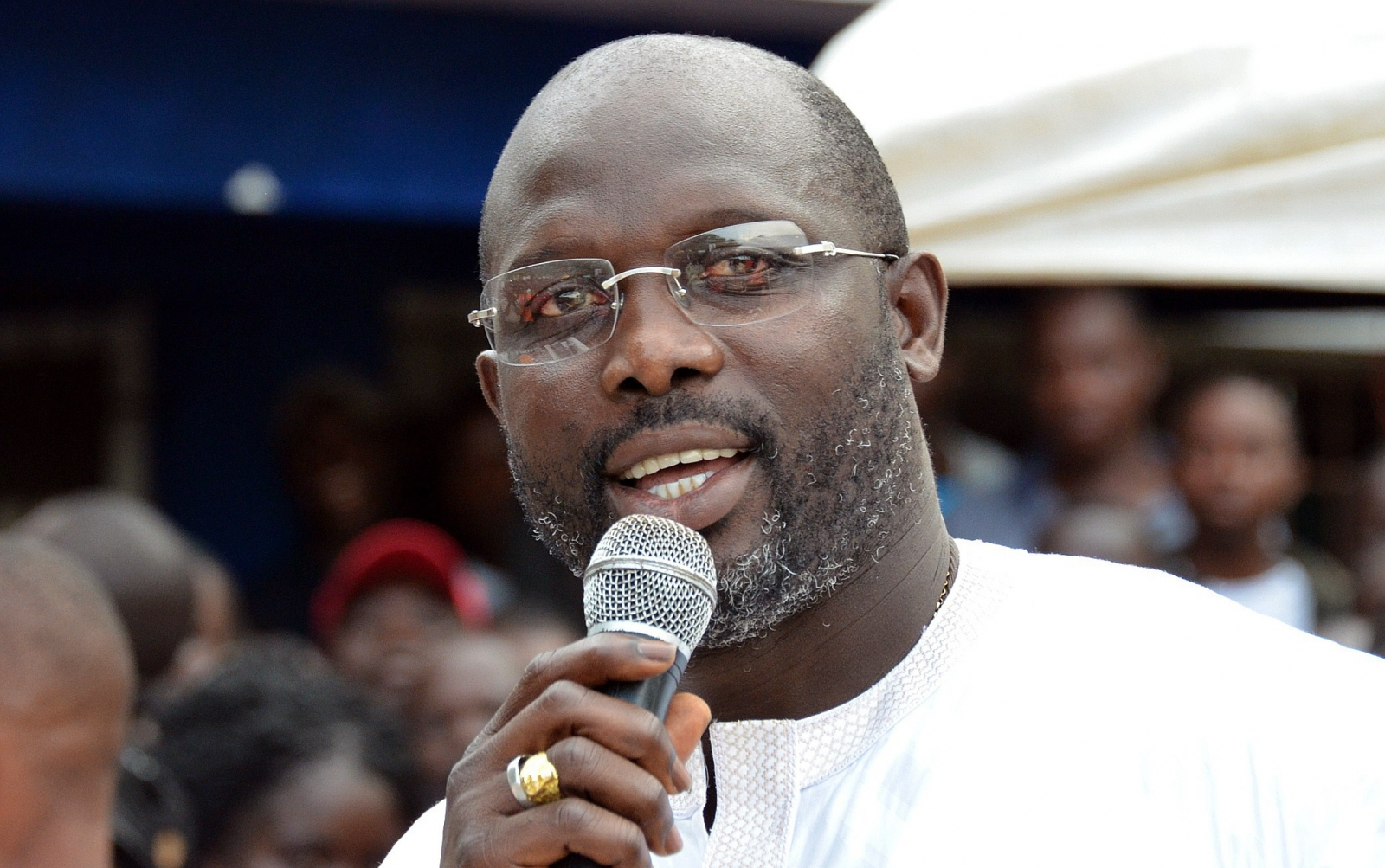 George Weah on the campaign trail (Getty)