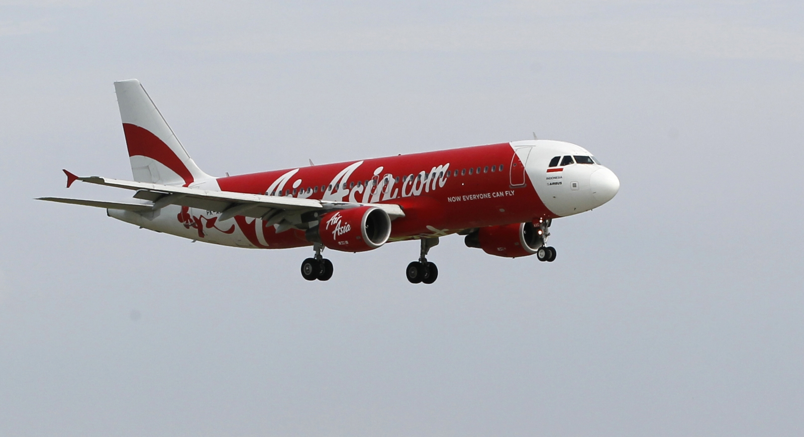 An Indonesia AirAsia Airbus A320-200 similar to missing flight QZ8501
