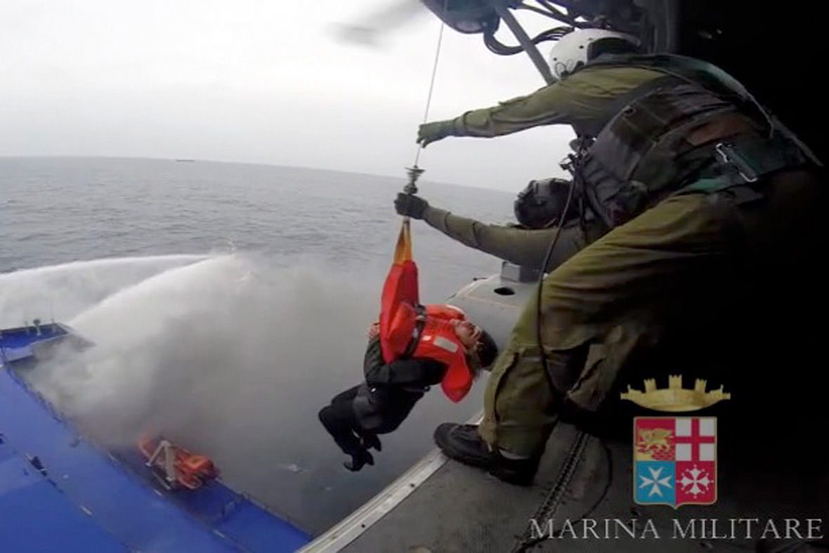 Ferry fire: Passengers rescued from Norman Atlantic in the Adriatic Sea