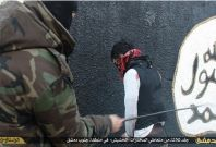 Three drug addicts were publicly whipped in Damascus by Islamic State officials
