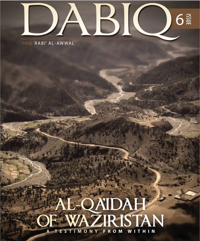 Cover page of Dabiq magazine issue 6