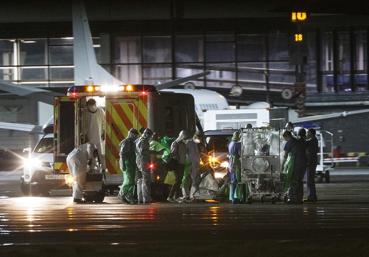 Ebola victim taken to isolation unit in Glasgow