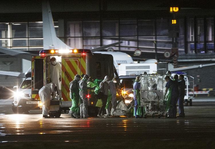 Ebola victim taken to isolation unit in Glasgow