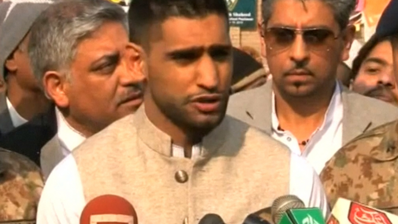 Amir Khan visits Peshawar school massacre site