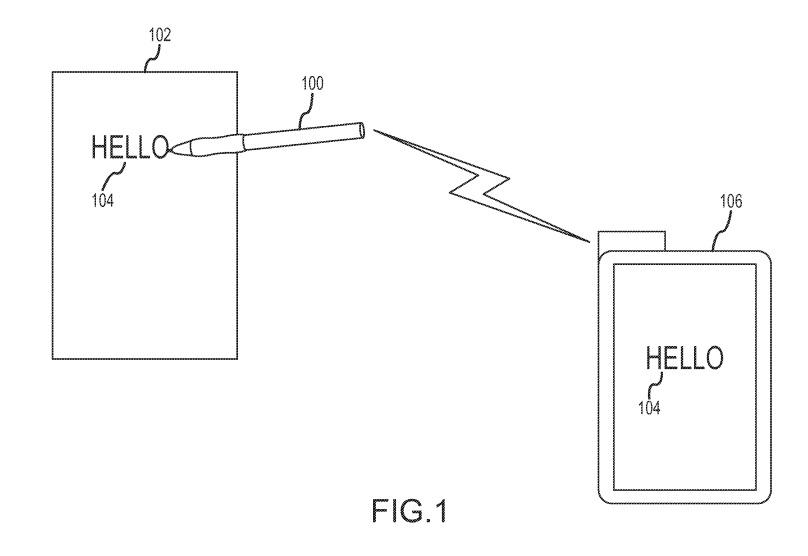 Apple smart pen stylus patent