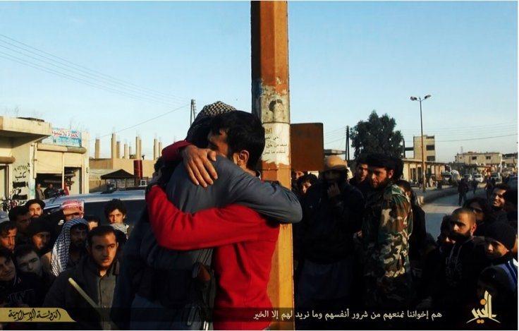 Guilty porn man hugs IS fighter in Syria