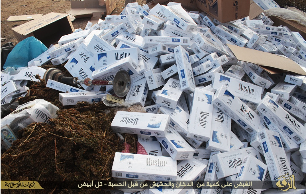 Confiscated cigarettes Syria