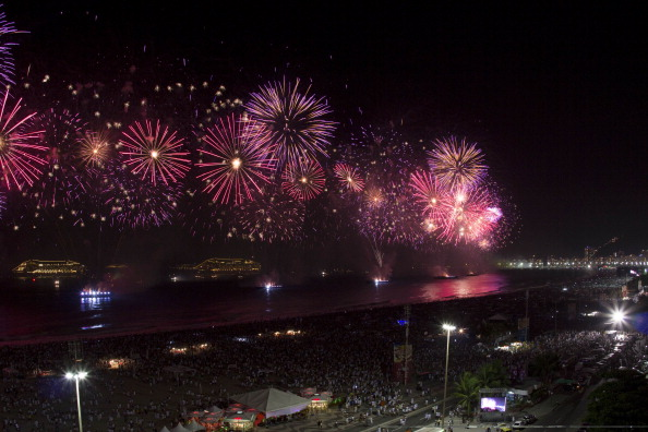 Brazil fireworks display