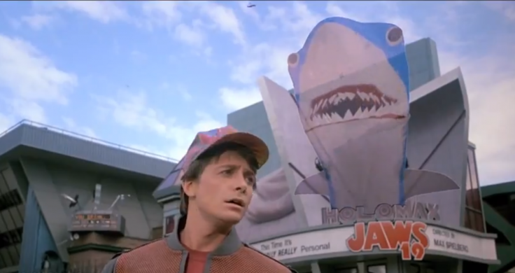 Jaws 3D showing at the cinema with a giant hologram advertising campaign in 2015