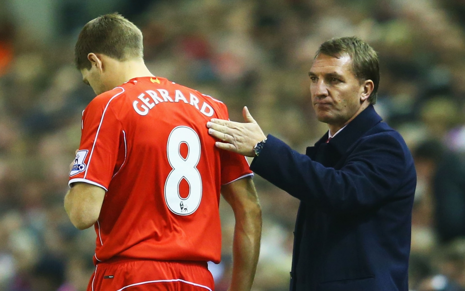 Steven Gerrard and Brendan Rodgers