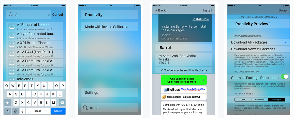 Proclivity - New performance enhancing package manager for iOS jailbroken devices: How to Install