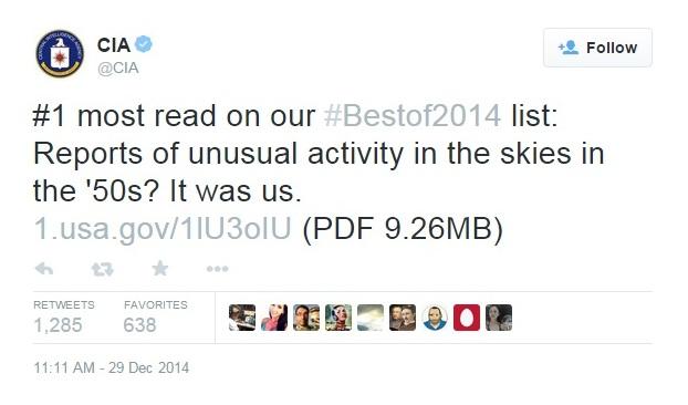 CIA tweet