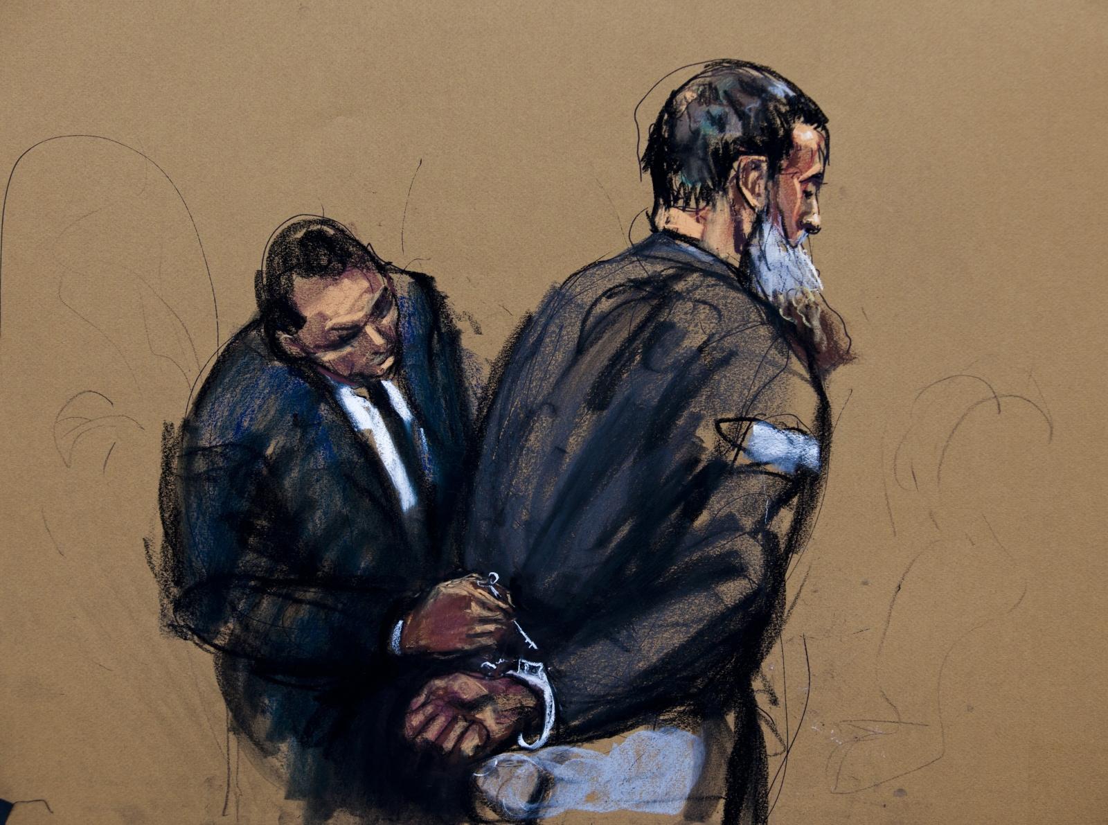 Courtroom sketch of Abu Anas al-Libi