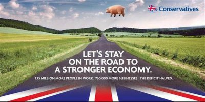 Conservatives road election poster mock 1