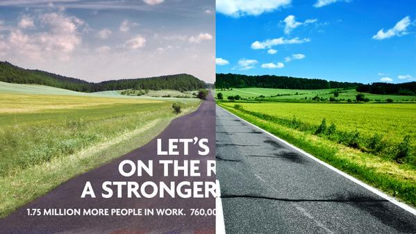 Conservatives road election poster official and original photo