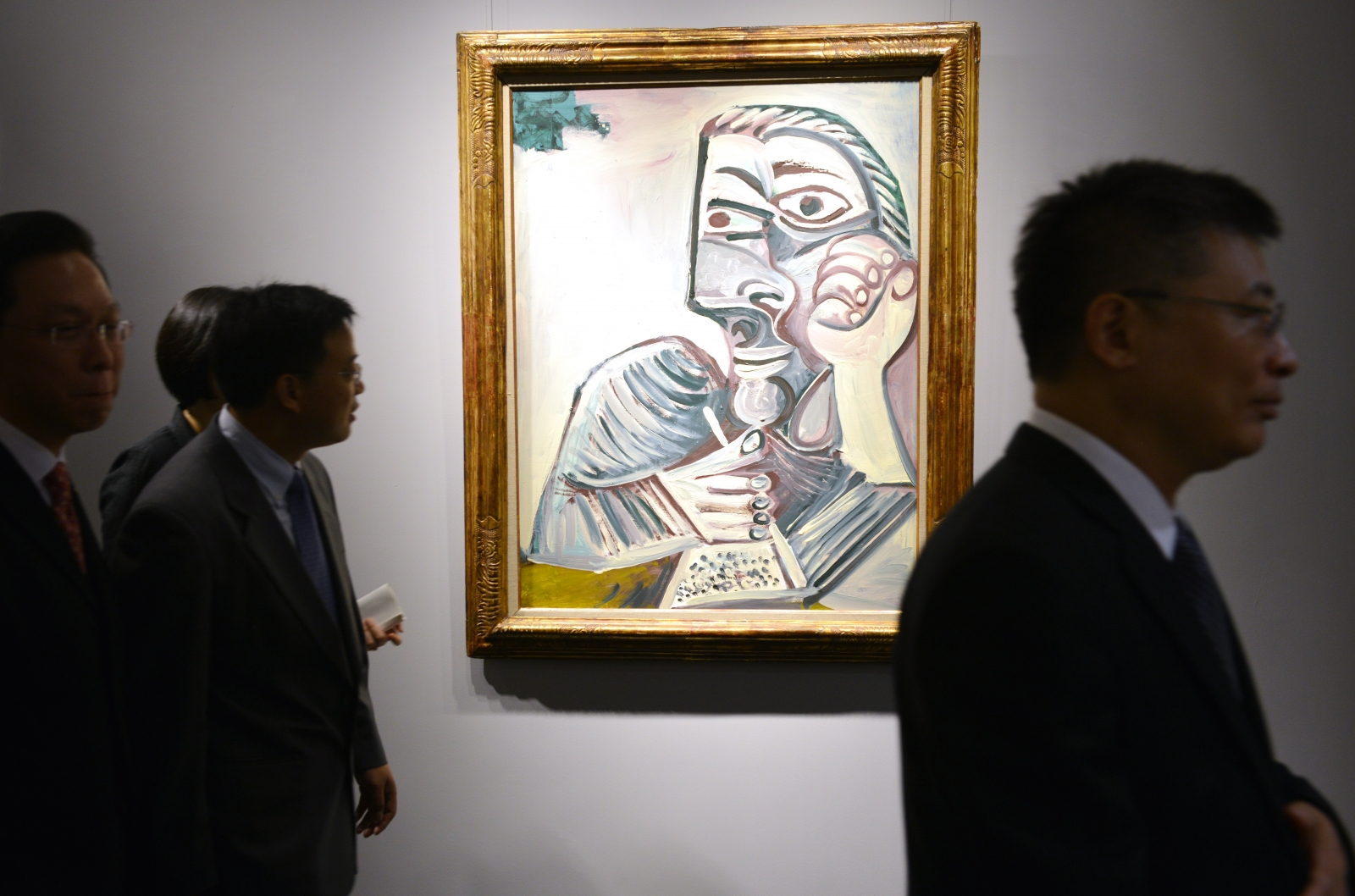 A Picasso on display at a private exhibition by auction house Christie's in Shanghai in 2013. (Getty)
