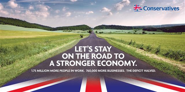 Conservatives road election poster official