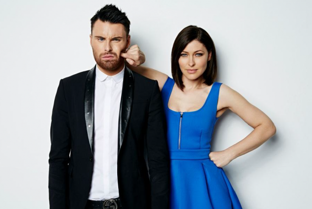 Celebrity Big Brother hosts Rylan Clark and Emma Willis