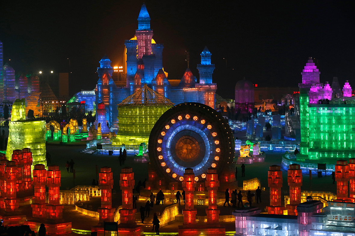 A city made of ice Spectacular ice sculptures at the 2015