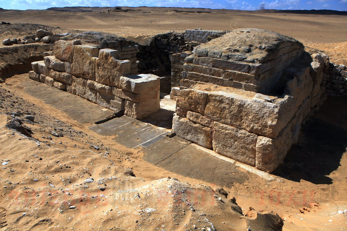The tomb of Queen Khentkaus III located at the Abu Sir necropolis near Cairo