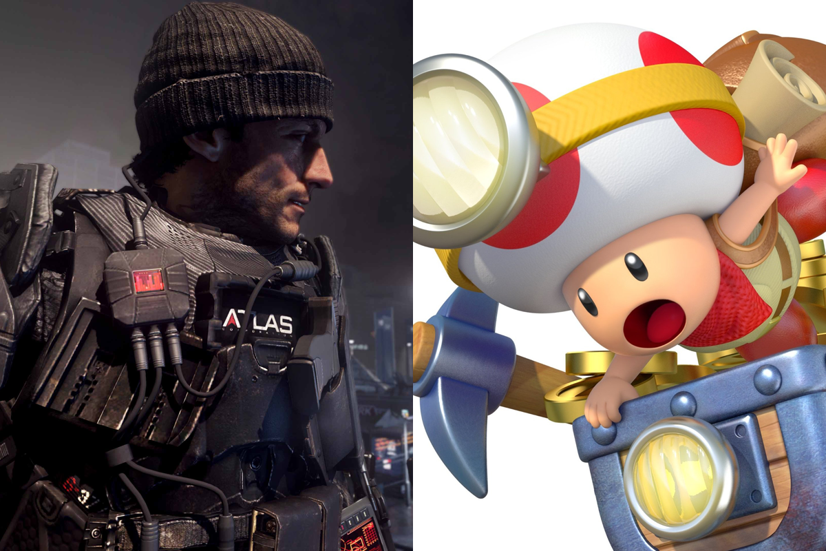 UK Video game chart call of duty captain toad