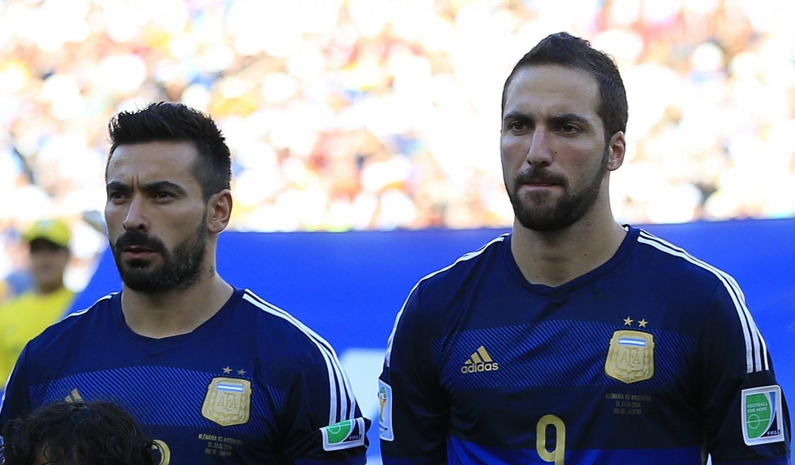 Gonzalo Higuain and Ezequiel Lavezzi