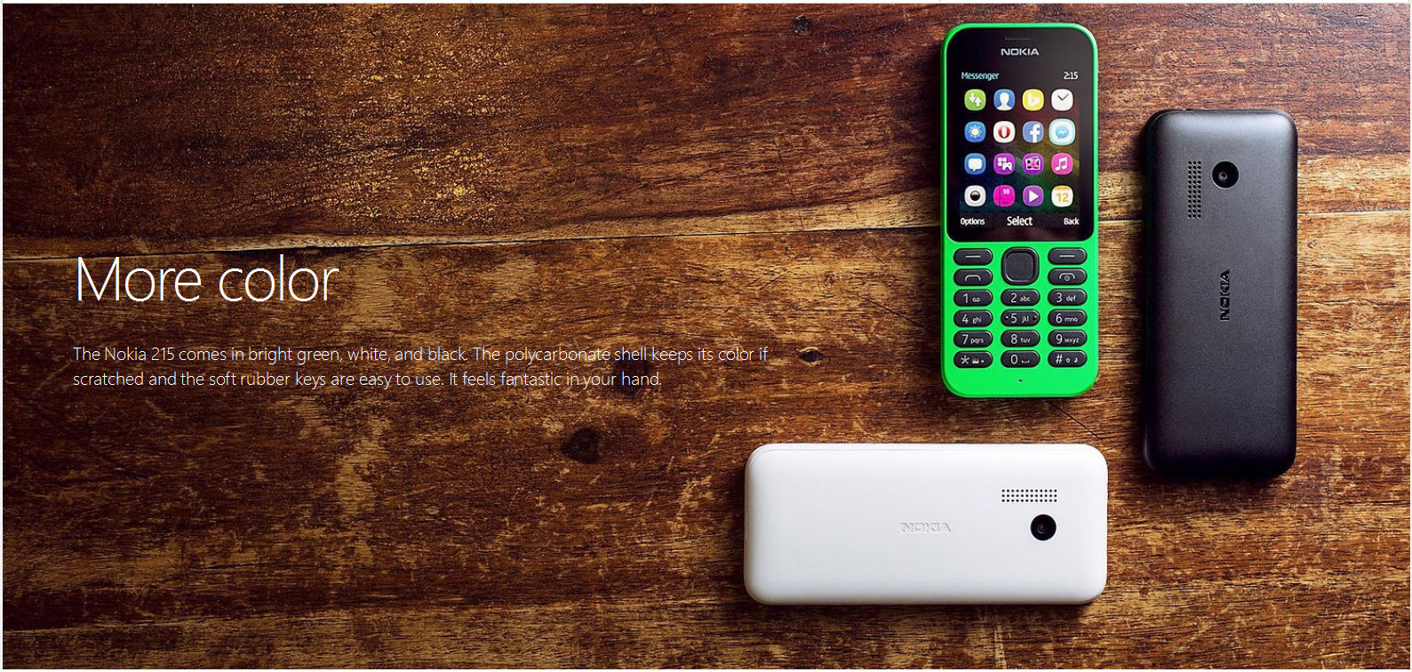 Microsoft surprises loyalists: Launches Nokia 215 Series 30  feature phone costing just £20