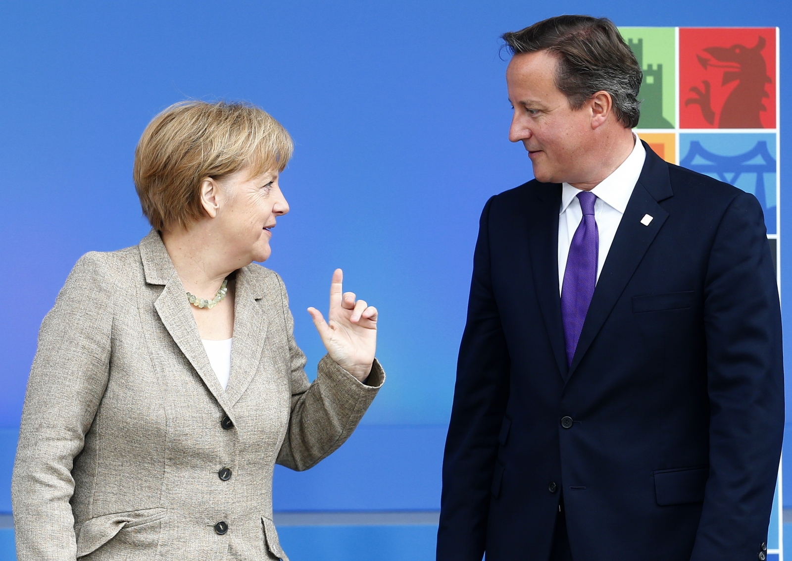 David Cameron Angela Merkel