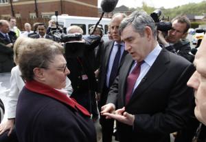 Gillian Duffy and Gordon Brown