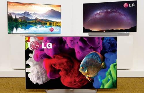 LG OLED 4K curved TV for 2015