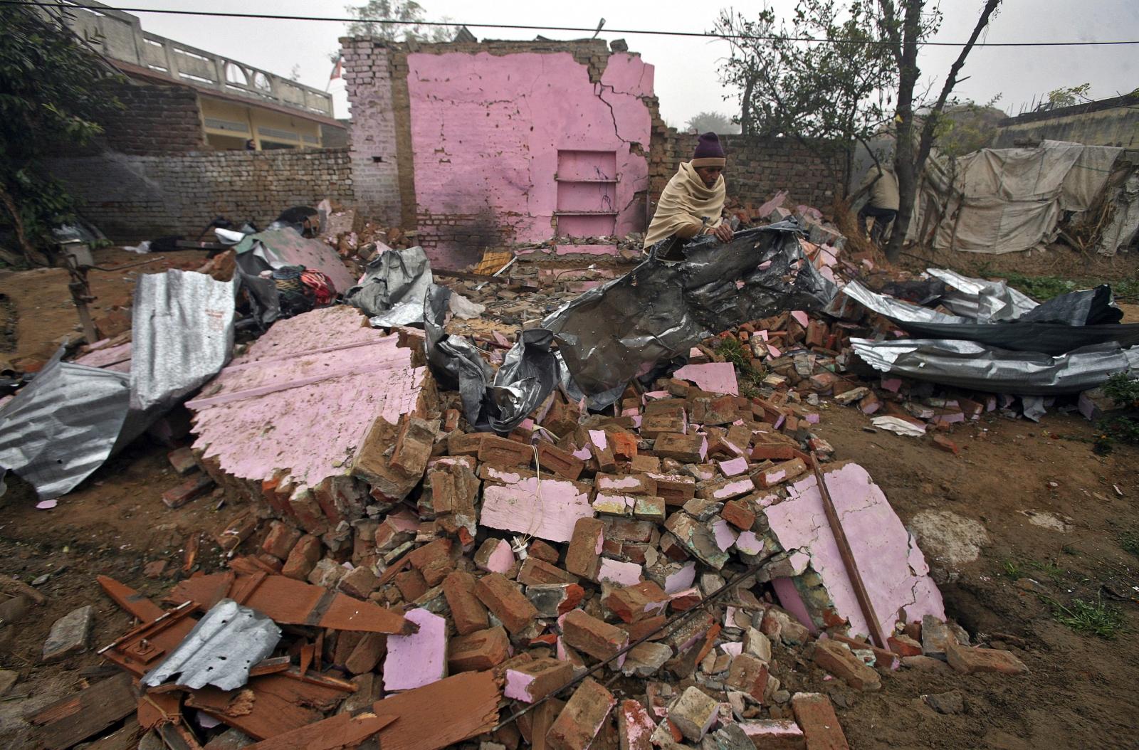 Kashmir house destroyed