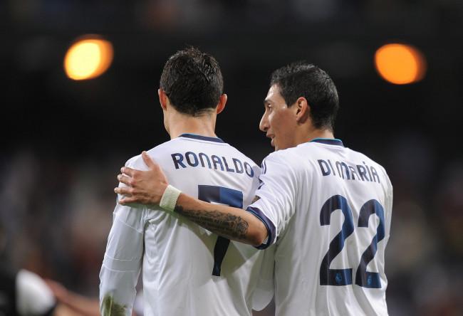 Angel di Maria and Ronaldo