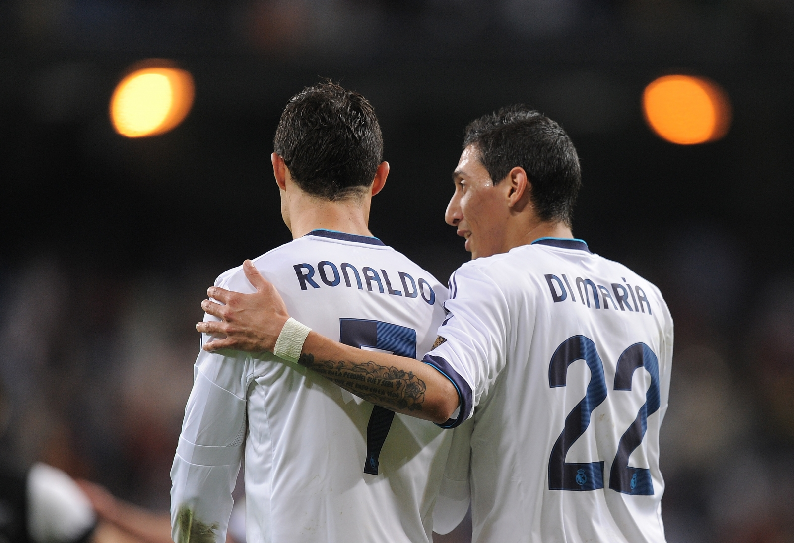 Angel di Maria and Ronaldo